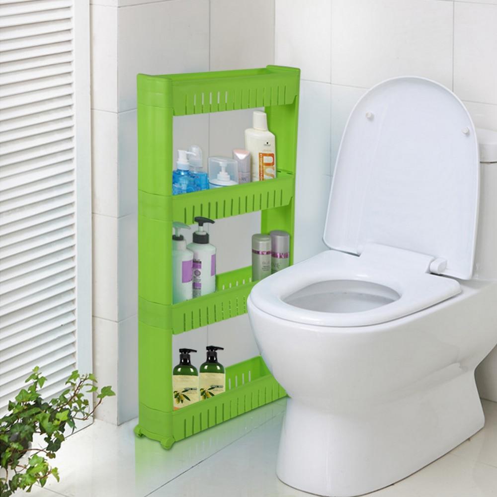 Bathroom Shelf Save Space Corner Bath Rack 4 Tiers Plastic Storage ...