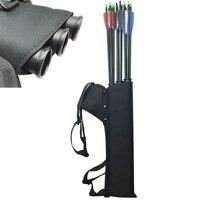 Black Quiver 3 Tubes Arrow Quiver Tube Arrow Holder Portable Back / Waist Strape Hunting Bag Archery Accessories Shooting
