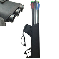 Black Quiver 3 Tubes Arrow Quiver Tube Arrow Holder Portable Back Waist Strape Hunting Bag Archery