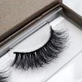 New 1 pair mink eyelash wholesale Lilly 100% real mink fur Handmade crossing lashes individual strip thick lash