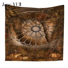 JaneYU Beach Towel Blood Blanket blood Hippie Mat Pumpkin Witch Wall Carpet 3d funny featured Wall Hanging halloween tapestry halloween witch printed waterproof wall hanging tapestry