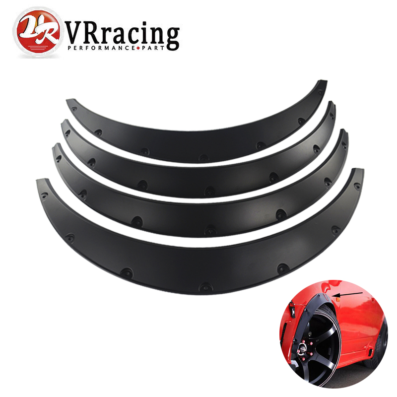 VR RACING - 4 Pcs Car Fender Flares Arch Wheel Eyebrow Protector/mudguards Sticker Universal VR-CFF01