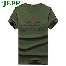 AFS JEEP New Summer Fashion Men T Shirt Boy Short Sleeve Male Tops Shirt Clothes Cotton Printing Tees Shirts Casual T-Shirt 30