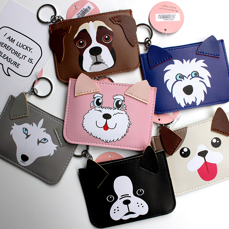 eTya Women Coin Purses Card Holder Wallet Mini Key Purse Card bag Credit Card Holders For Female Cute dog printing wallets etya new women purses cute zipper small flower bag female girl headset line coin purse card bag clutch wallet key bags wholesale