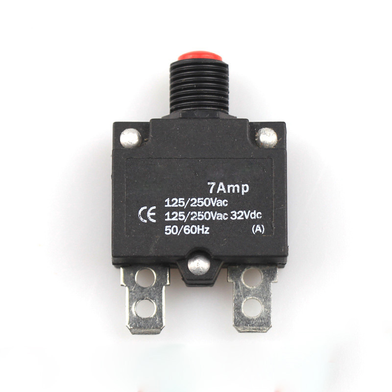 7A-25A Thermal Switch Push Button  AC 125/250V DC 32V  Thermal Circuit Breaker