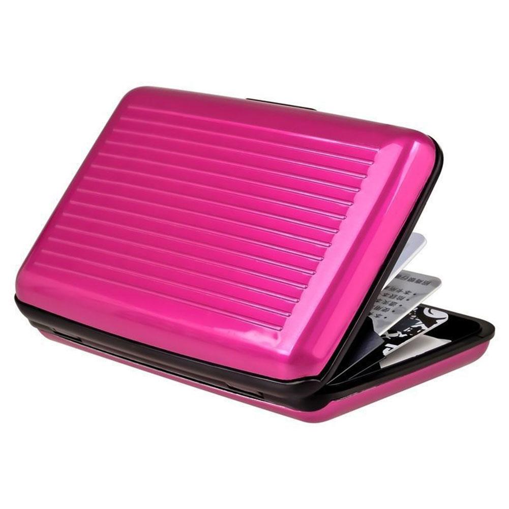 Aluminium Alloy Wallet Credit Card Holder RFID Blocking Waterproof Purse WML99 etya bank credit card holder card cover