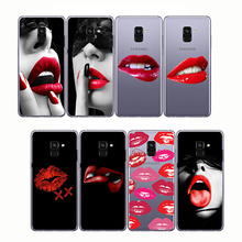 Sexy Girl lips Kylie Jenner lipstick kiss pattern soft phone cases cover Coque fundas for  Samsung A8 A9 2018 2015 A5 A6 A7