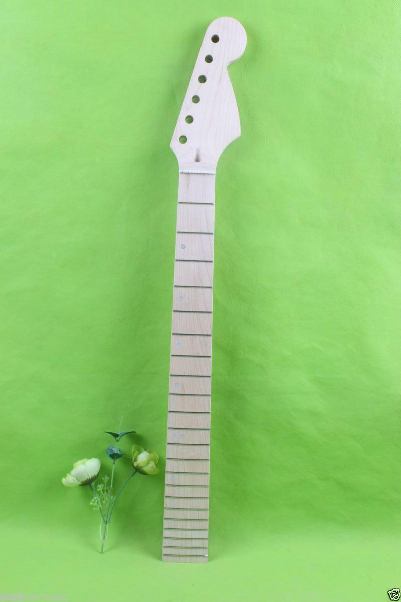 New 1pcs electric guitar neck maple Fretboard 22 fret 25.5'' No inlay #1748 1 pcs electric guitar neck maple wood fretboard truss rod 22 fret tiger stripes maple neck xylophone