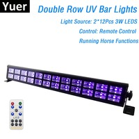 24 LEDs Disco UV Bar Lights Party Dj Lamp UV Color LED Wall Washer Lights For Christmas Laser Projector Stage Wall Washer Lights