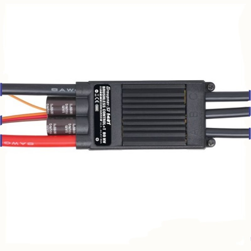 Graupner BRUSHLESS CONTROL + T 60A HV ESC OPTO Telemetry ESC Brushless Motor Speed Controller free shipping graupner hott electric air module 2 14s vario telemetry monitoring helicopter multicopter motor speed controller rc esc