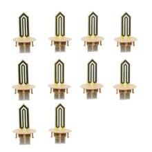 10 pièces de rechange lame de chauffage en céramique pour Iqos 2.4 Plus lame de bâton chauffant pour Iqos E accessoires de réparation de cigarettes