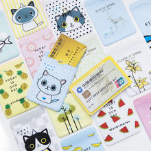 Small Fresh Cute ID Card Holder Case Cartoon Business Bus Bank Credit Card Cover Transparent PVC for Student Kid Women Badge Bag(China)