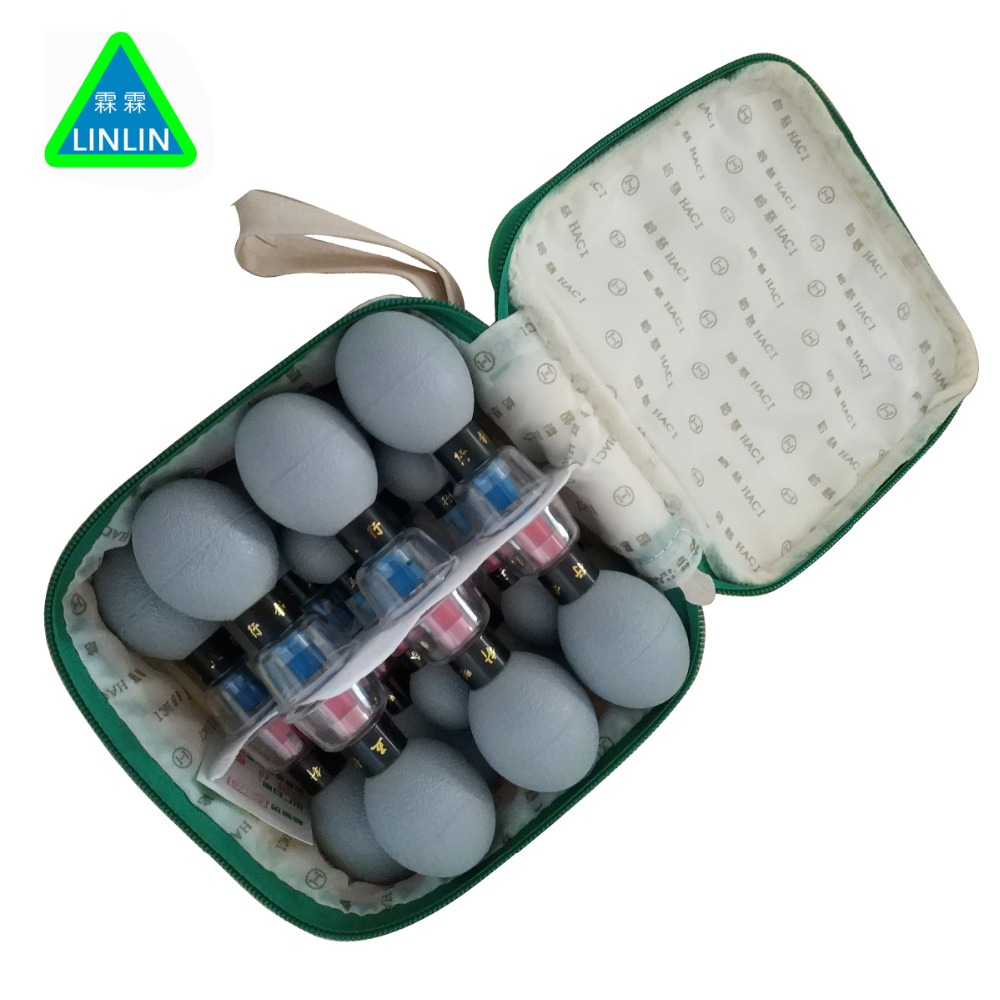 LINLIN 18PCS household Vacuum Haci Magnetic Therapy Acupressure Suction Cup TCM acupuncture and moxibustion cupping Health
