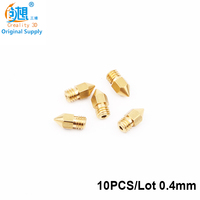10PCS Lot 0 4mm Size Creality 3D Printer Parts Extruder Brass Nozzle Print Head For MK8
