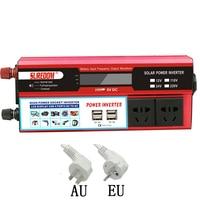 DC12V 24V AC 110V 220V USB 500W 1000W 1500W Portable frequency converter car charger inverse power adapter AU EU plug