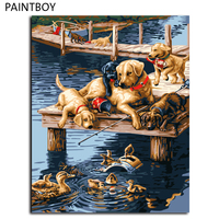 Dogs Painting Frameless Pictures Painting By Numbers DIY Digital Canvas Oil Painting Home Decor Wall Art