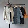 Женщины Куртка Зимняя Мода Корейской версии Пуховик Сплошной цвет Длинный Абзац однобортный Votton Vlothing Женщины Пальто