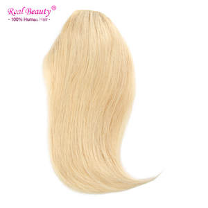 Bangs Hair-Fringe Human-Hair-Extensions Gradient ALI Machine-Made 3clips BEAUTY Remy