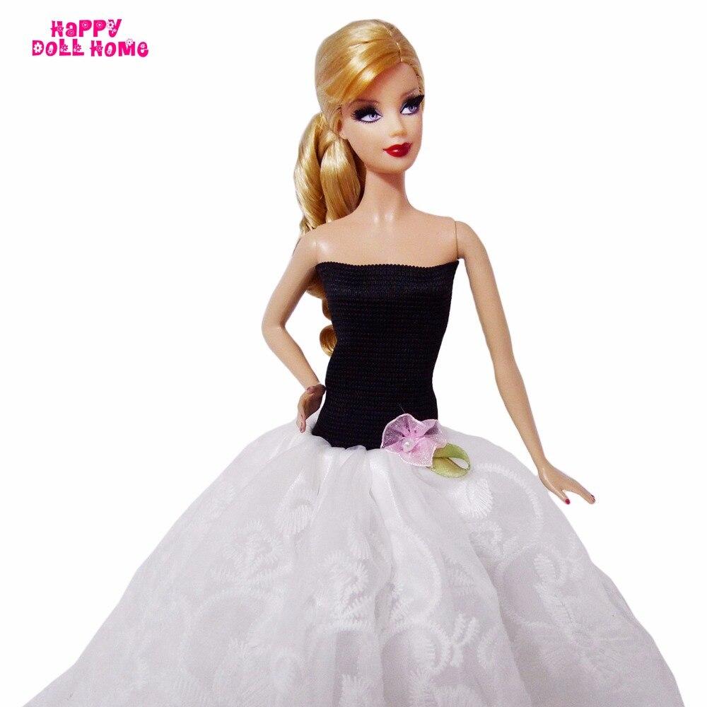 Ручной работы Модные свадебное платье ужин вечернее платье одежда принцессы для куклы Барби FR куклы 11.5 12 Кукольный кукольный домик Интимн...