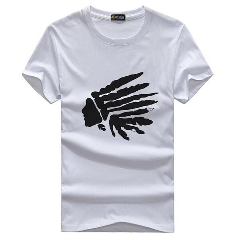 Marque design mode mens indiens imprimer t shirts 2019 nouvel été - Vêtements pour hommes - Photo 4