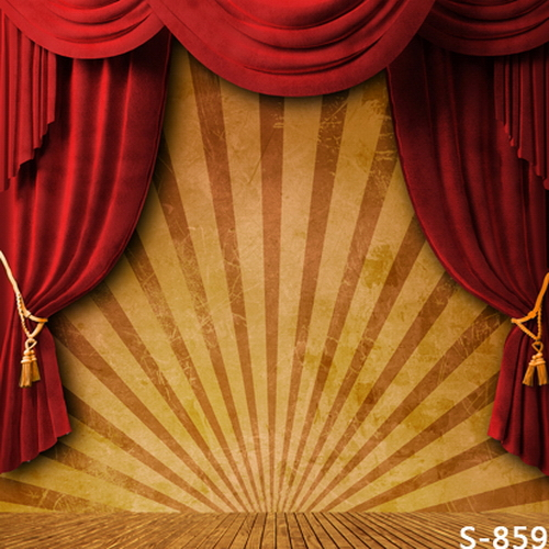 10x10FT Circus Stripes Tent Red Curtain Drape Stage Portrait Custom Photography Backdrops Studio Backgrounds Vinyl 8x8