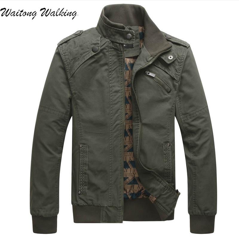 Men Jackets 2017 Spring Autumn Kanye West Fashion Mens Solid Color Leisure Cotton Coat Mens Military
