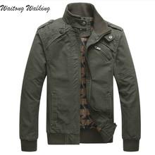Männer Jacken 2017 Frühling Herbst Kanye West Mode Herren Einfarbig Freizeit Baumwolle Mantel Mens Military Jacke Größe M-3XL T061
