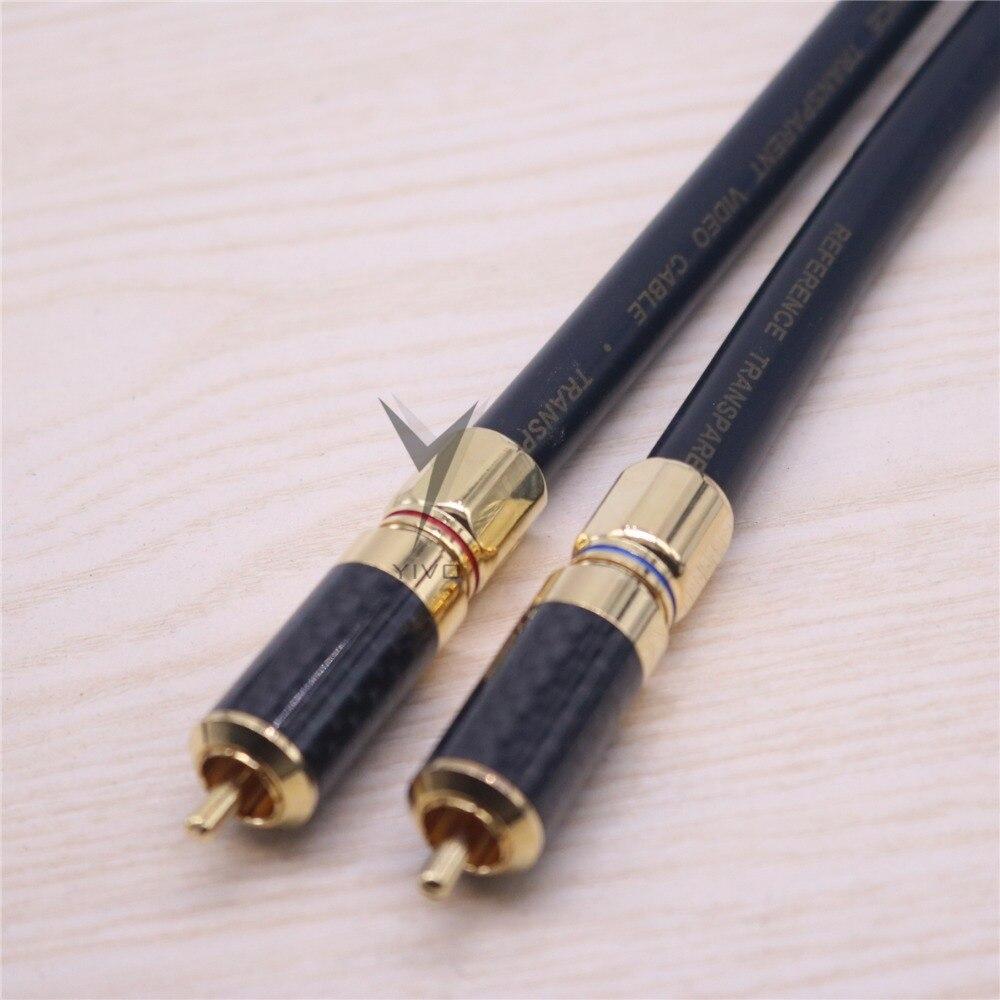 1 paire RCA vers RCA haut de gamme HIFI YIVO OFC OCC cuivre 1 noyau bouclier RCA Audio 10mm 10.5m rf câble Coaxial fil de ligne