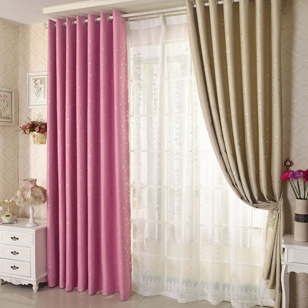 2 Pcs Blackout Curtains Kid's Room Drapes For Bedroom For Window Treatment Blinds Curtains For Living Room The Bedroom Blinds