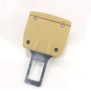 Image 3 - 2 farbe 1pc Auto Sitz Gürtel Clip Extender Sicherheit Seatbelt Lock Schnalle Stecker Dicken Einsatz Buchse Schwarz/Beige