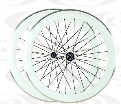 width 23mm cheap price chinese carbon fiber clincher road bike wheels paint white colour alloy brake surface free shipping