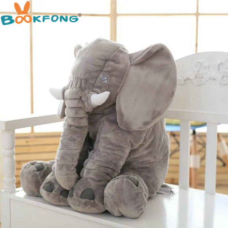 BOOKFONG 1PC 40/60cm Infant Soft Appease Elephant Playmate Calm Doll Baby Appease Toys Elephant Pillow Plush Toys Stuffed Doll 11