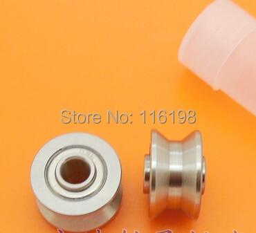 купить 10pcs TU16 T16  U16 T16.5 ABEC5 6mm pulley bearings 5x16.5x9x11mm U groove roller wheel ball bearing T-U-16 по цене 2807.52 рублей