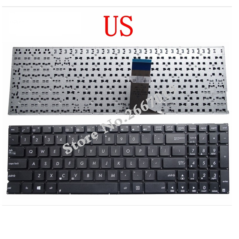 US New Laptop Keyboard FOR ASUS X553 X553M X553MA K553M K553MA F553M F553MA Black