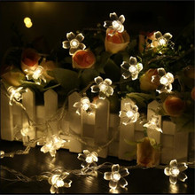 33FT 10M 100leds Creative Cherry Blossom LED String Light Fairy for Xmas New Year Valentine Guesthouse Garden Decor