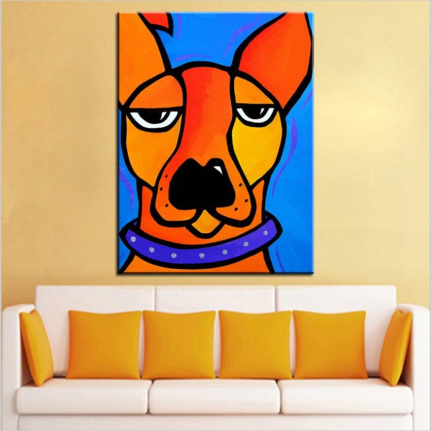 Velkoformátový tisk Olejomalba peeved Nástěnná malba POP Art Nástěnná malba Obrázek pro malování v obývacím pokoji Bez rámečku