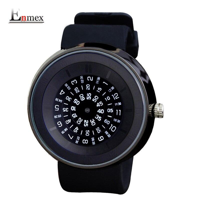2017 men s gift Enmex men women creative time code wristwatch waterproof design light sports casual