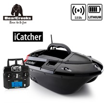 BearCreeks iCatcher V3 Carp Fishing Bait Boat with Lithum battery 500m RC Remote Control 4000g Lure Load Boat