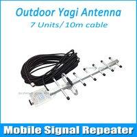 8dBi 824-960 MHz GSM/CDMA Açık Yagi Anten N erkek konnektör Için Mobil Tekrarlayıcı w/10 m Kablo