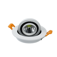 Newest Arrvial 15W COB LED Dimmable Downlights AC85 265V LED Spot ceiling lamp warm/cool White 360 Degree rotation Free Shipping