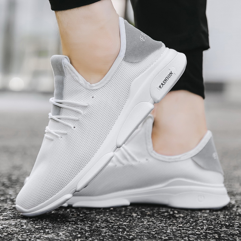 2018 Neue Mesh Casual Schuhe Atmungs Jogging Schuhe Sommer Frühling Gestrickte Fly Weben Wohnungen Schuhe Männlichen Mode Schuhe Turnschuhe
