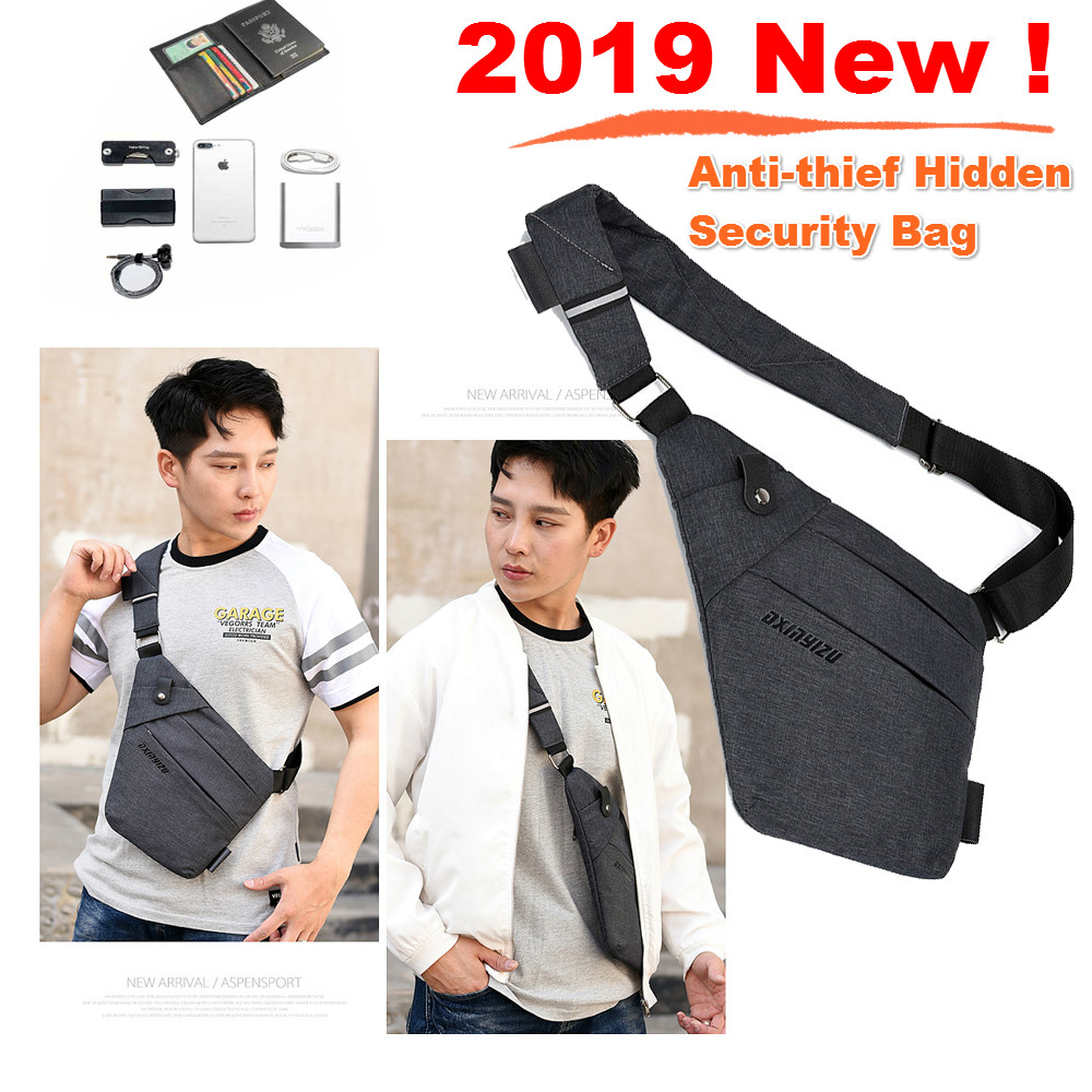 Anti-thief Hidden Security Bag, Underarm Shoulder Armpit Phone Money Passport wallet Pouch Bag Case for Caterpillar <font><b>CAT</b></font> S60 <font><b>S61</b></font> image