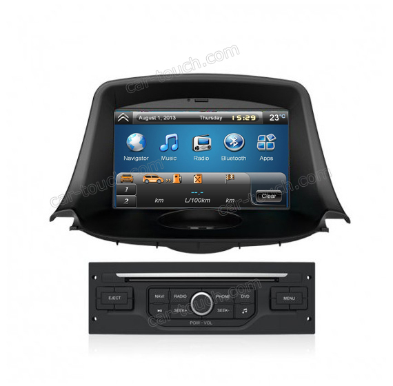 dashboard car dvd player autoradio gps navigation for peugeot 208 with rearview camera in car. Black Bedroom Furniture Sets. Home Design Ideas