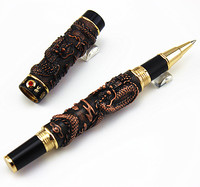 JINHAO COPPER TWO DRAGON PLAY PEARL ROLLER BALL PEN CRYSTAL FREE SHIPPING