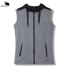 Mens Sleeveless Sweatshirts Fashion Design Gray Hooded Hoodies Hot Sell 2017 Mens Fit Sweatshirts Male Sleeveless Clothing