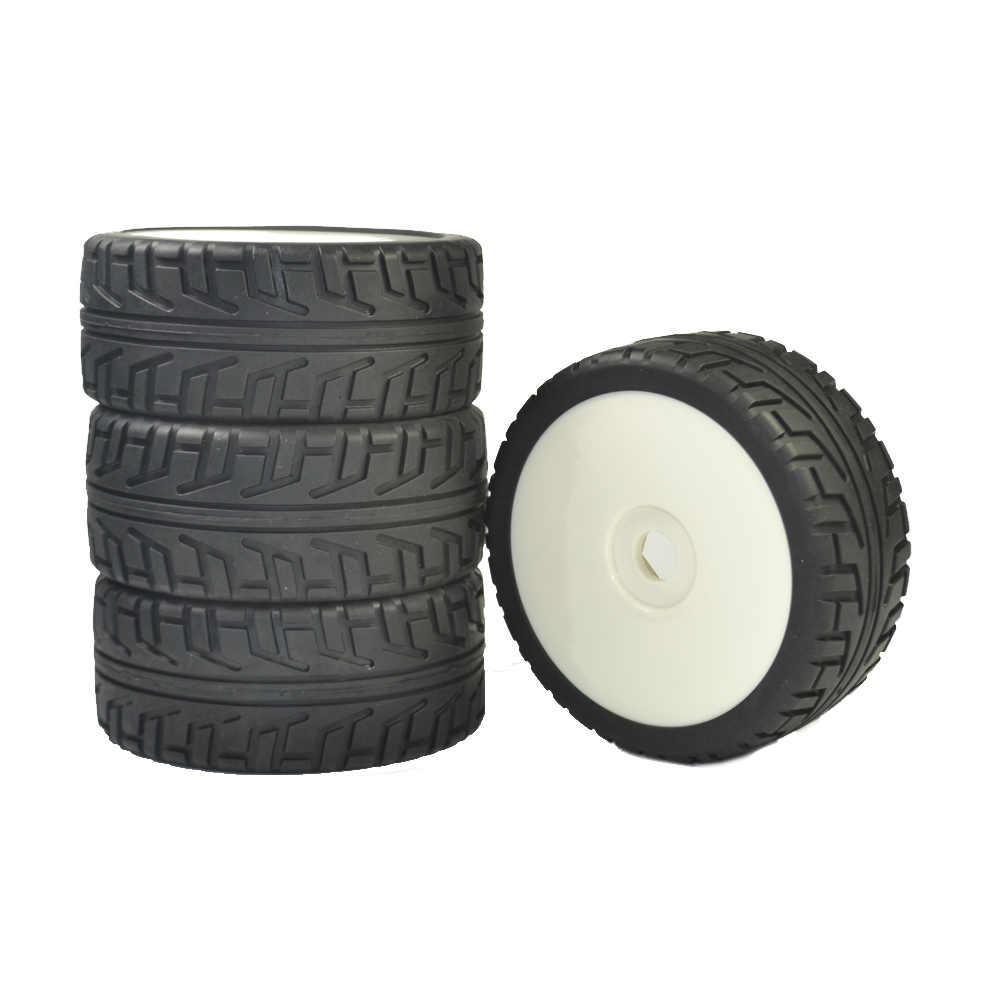 4PCS 1/8 On Road Buggy Banden met Plastic hub hex 17 mm Velgen voor 1/8 RC crawlers
