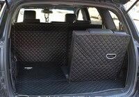Good Free Shipping Special Trunk Mats For Hyundai Santa Fe 7seats 2012 2009 Durable Waterproof Boot
