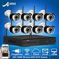 Plug And Play CCTV Kit 8CH NVR Sem Fio & P2P 1080 P HD À Prova de Intempéries Ao Ar Livre + Interior Night-Vision IR Sistema de Câmera De Segurança WI-FI