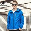 Pioneer camp nueva primavera hombres de la chaqueta de marca clothing moda con capucha chaqueta de la capa masculina de calidad superior outwear casual hombres ajk707009