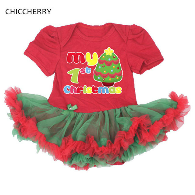 a0ded782 My 1st Christmas Costumes For Girls Party Dress Baby Overalls Body Bebe  Newborn-Girl-